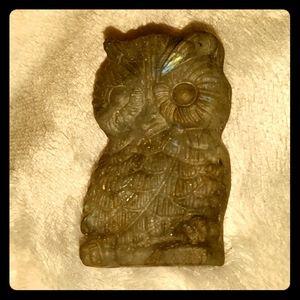 Labradorite Owl Stone